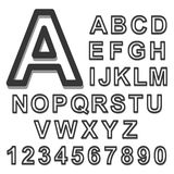 3d Alphabet set black font on a white background. Vector illustration. 3d Alphabet set black font on a white background. Vector Stock Photo