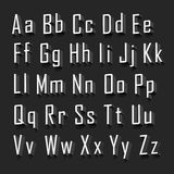 3d Alphabet set white font on a black background. Vector illustration Stock Photography