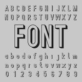 3D Alphabet Vector and Shadow Font Design. On the gray background Royalty Free Stock Images