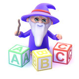 3d Alphabet wizard Stock Images