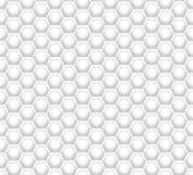 3D als honingraat witte textuur Stock Fotografie