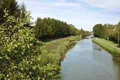 D'Alsace för storslagen kanal fotografering för bildbyråer