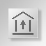 3D alto interesse Rate Button Icon Concept Illustrazione Vettoriale