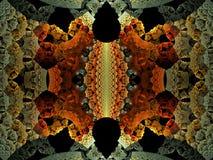 3D Alwetende Fractal van de Randvlam stock illustratie