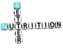3D améliorent des mots croisé de nutrition Image stock