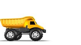 3D amarelo Toy Dump Truck ilustração royalty free