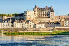 D'Amboise замка на реке Луаре, Франции Стоковое Изображение