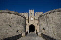 D'Amboise Gate. Island of Rhodes. Greece Stock Image