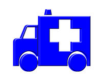 3D Ambulance icon Stock Photography