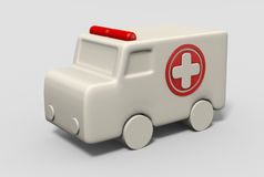 3D ambulance Royalty Free Stock Photos