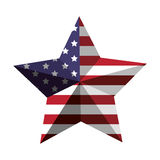 3d American flag star icon. Vector illustration Stock Image