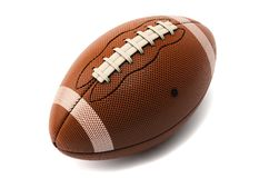 3d American Football Ball Isolated on White. With clipping path Stock Photography