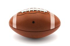 3d American Football Ball Isolated on White. With clipping path Stock Images