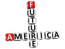 3D Ameryka Przyszłościowy Crossword Zdjęcie Stock