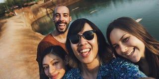 D'amis de voyage de vacances d'aventure concept ensemble Photos libres de droits