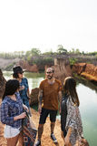 D'amis de voyage de vacances d'aventure concept ensemble Image libre de droits