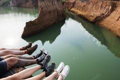 D'amis de voyage de vacances d'aventure concept ensemble Photographie stock libre de droits