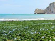 D'Amont de Falaise de La de falaises dans Etretat, France Photographie stock