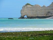 D'Amont de Falaise de La de falaises dans Etretat, France Images stock