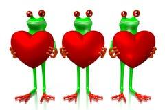 3D amour, concept de coeurs Photos stock