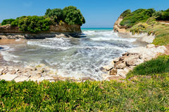 D'amour de canal sur l'île de Corfou Images stock