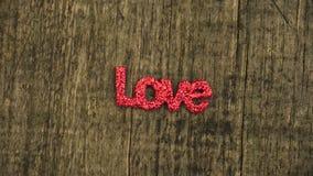 ` d'AMOUR de ` de mot de lettres sur la table en bois Photos libres de droits