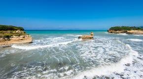 D'amour del canal en la isla de Corfú fotografía de archivo libre de regalías