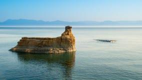 D'amour Sidari, isla del canal de Corfú en Grecia Canal de amor imagen de archivo libre de regalías