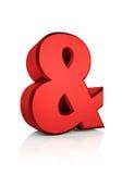 3D Ampersand Czerwony znak ilustracja wektor
