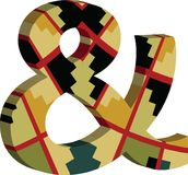 3d Ampersand-symbool Royalty-vrije Stock Afbeeldingen