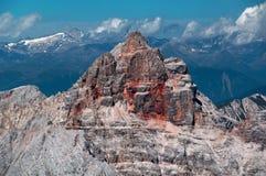 d'Ampezzo de Croda Rossa (Hohe Gaisl) los 3146m Fotos de archivo
