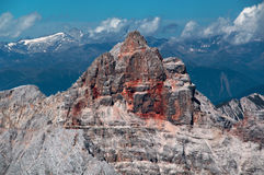 d'Ampezzo Rossa Croda (Hohe Gaisl) 3146m Στοκ Φωτογραφίες