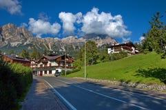 d'Ampezzo van Cortina, Italië Royalty-vrije Stock Fotografie