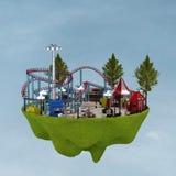 3d amusement park. 3d building a theme park in the background Stock Photo