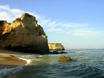 D.Ana Beach I. D.Ana Beach and sea in the city of Lakes (Lagos), Algarve, Portugal royalty free stock photography