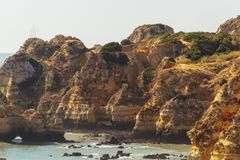 d Ana Beach, Lagos Portugal image stock
