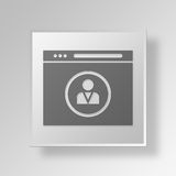 3D Analytics Web Browser icon Business Concept. 3D Symbol Gray Square Analytics Web Browser icon Business Concept Royalty Free Stock Photos