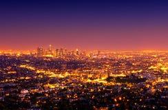 d'Angeles ville de visibilité directe vers le bas Images stock