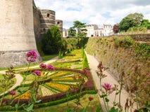 d'Angers del castillo francés Imagen de archivo