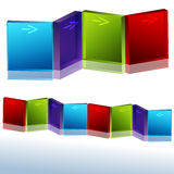 3d Angled Block Chart Stock Photos