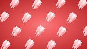 3d animó el fondo de la rotación de diente Lazo, canal alfa libre illustration
