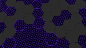 3d animacja abstrakcjonistyczny nowożytny tła honeycomb wzór royalty ilustracja