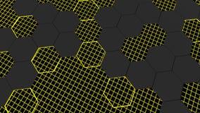 3d animacja abstrakcjonistyczny nowożytny tła honeycomb wzór ilustracji