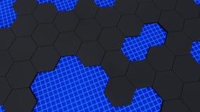 3d animacja abstrakcjonistyczny nowożytny tła honeycomb wzór ilustracja wektor