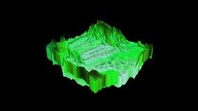 3d animacja abstrakcjonistyczny stubarwny kształt w ruchu zbiory