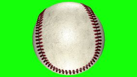 3D animacja, baseballa balowy kołysanie się w środku przejrzysty tło ilustracji