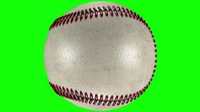 3D animacja, baseballa balowy kołysanie się wewnątrz przez przejrzystego tło ilustracja wektor
