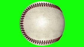 3D animacja, baseballa balowy wirować w środku przejrzysty tło ilustracja wektor