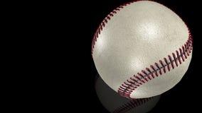 3D animacja, biała baseball piłka w ruchu na lustro powierzchni ilustracji