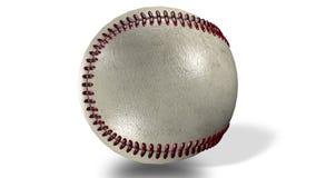 3D animacja, glansowanego baseballa balowy prz?dzalnictwo w ?rodku ekran royalty ilustracja